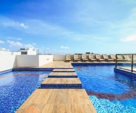 1 Block to Beach, Ocean View Rooftop Pool - Klem 103