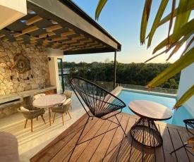 Ixchel LUXURY PENTHOUSE studio Priv Rooftop POOL