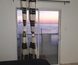 Ocean front apartment.